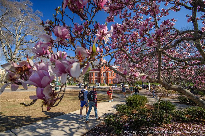 Ventress Hall in spring.