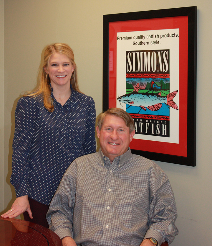 Harry Simmons Jr. and Katy Simmons Prosser announce Simmons Catfish's support of UM's Southern Foodways Alliance.