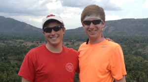 UM students Wesley Youngblood (left) and Andrew Smelser recently traveled to Haiti on a medical mission trip.