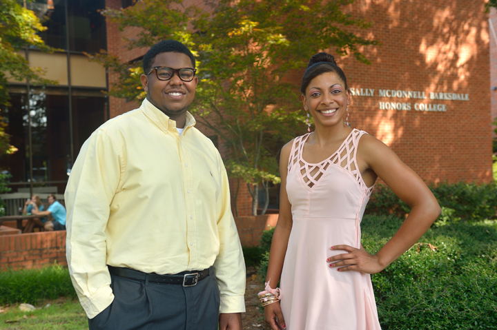 Logan Wilson of Hattiesburg and Davelin Woodard of Oxford are the 2012-2016 recipients of the Everett-Williams Memorial Scholarship, one of the most prestigious four-year scholarship awards at UM.