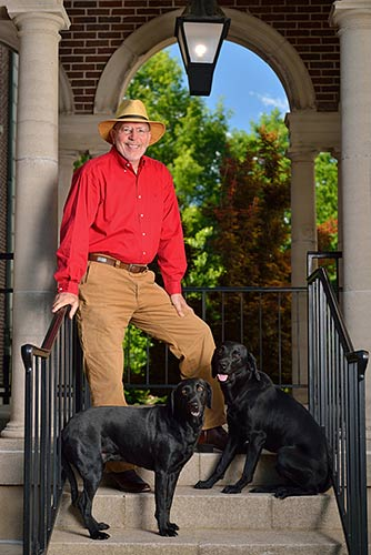 Ben McClelland and his dogs.