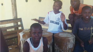Photovoice image taken by former street children to show the importance of traditional cultural activities like drumming and dancing.