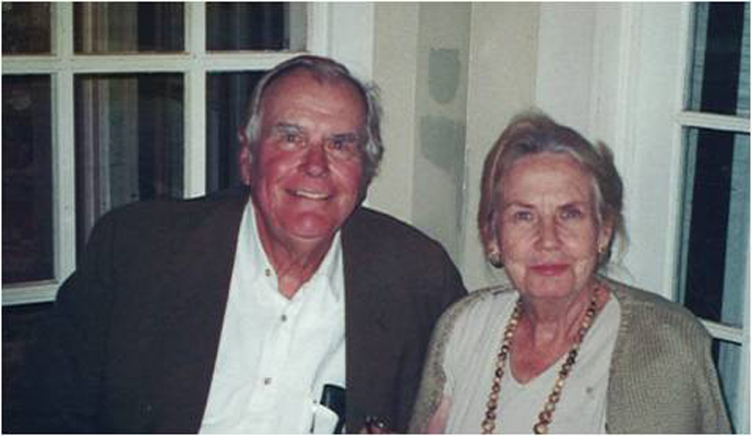 The late Frank Peddle is pictured with his wife Marjorie, who has made a new gift to the University of Mississippi Museum to reinstall the Robinson Collection, a 2,000-piece collection of Greek and Roman antiquities.
