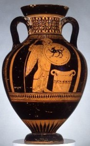 Red figure amphora by the Nixoxenos painter in the Robinson collection.
