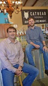 Cathead Distillery owners Austin Evans, left, and Richard Patrick have committed support to undergird the efforts of the Southern Foodways Alliance at the University of Mississippi.