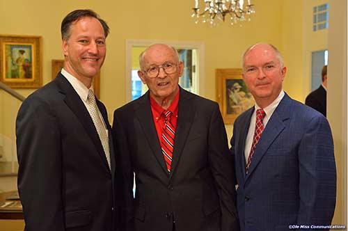 Dean Rich Forgette (left) with Hugh Bateman (middle).