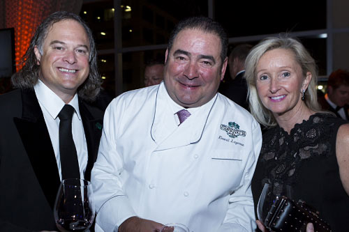 Brook and Pam Smith of Louisville, Ky., flank their friend Emeril Lagasse – well-known chef, restaurateur and author – all passionate food advocates. The Smiths have contributed major support to the Southern Foodways Alliance in the University of Mississippi's Center for the Study of Southern Culture to create the Smith Symposium Fellows program. | Photo by Steve Freeman
