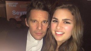 Elizabeth Romary, a sophomore international studies major from Greenville, North Carolina, met actor Ethan Hawke at St. Bart's Cathedral in New York, where Hawke's documentary 'Seymour: An Introduction' was screened. Romary, who was in the city with her Honors College class, attended the event on her own time.