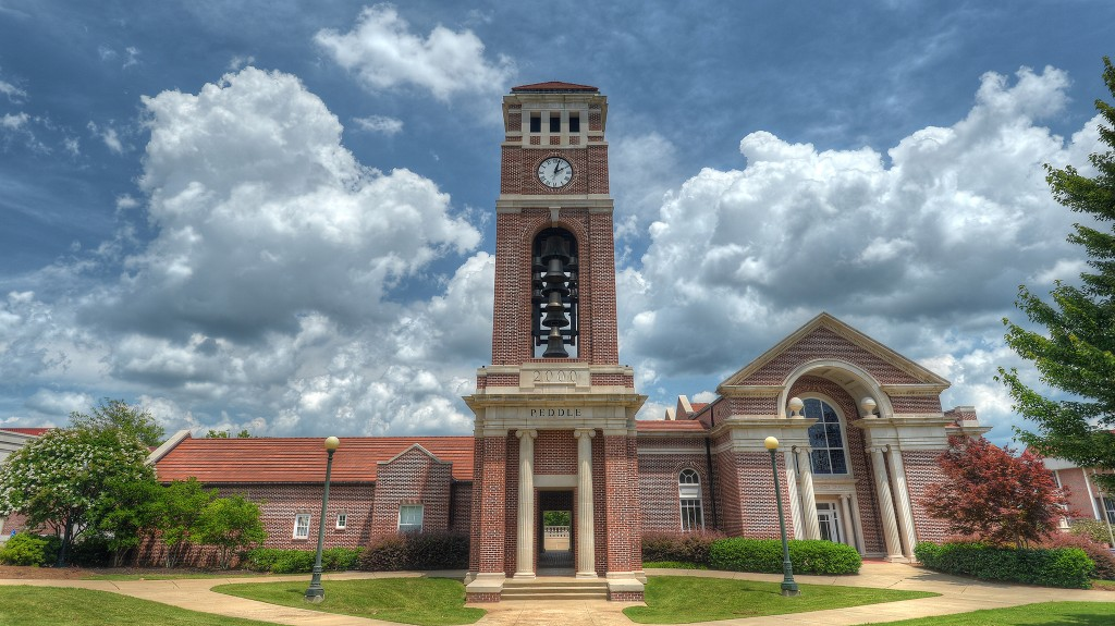 The dedication will take place directly behind Paris-Yates Chapel. Photo by Kevin Bain/Communications