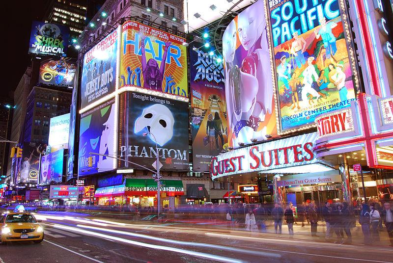 Photo of Broadway by Matt H. Wade at Wikipedia and Wikimedia Commons