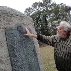 HISTORY PROFESSOR JOHN NEFF AT CONFEDERATE CEMETERY IN OXFORD, MISS. | Sandra Knispel