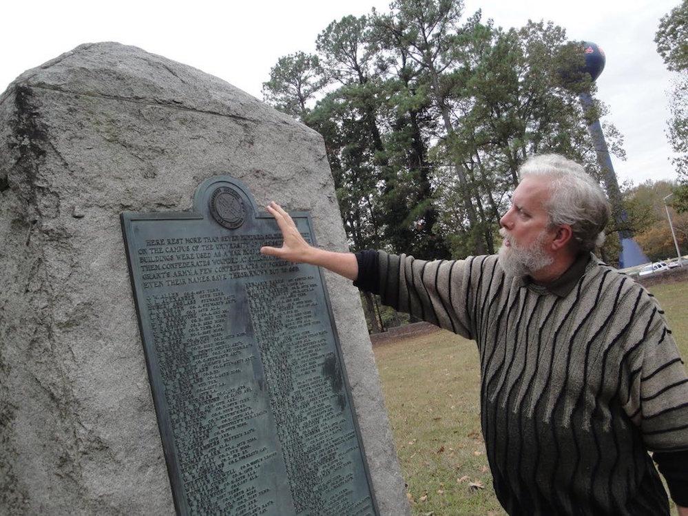 HISTORY PROFESSOR JOHN NEFF AT CONFEDERATE CEMETERY IN OXFORD, MISS. | Sandra Knispel