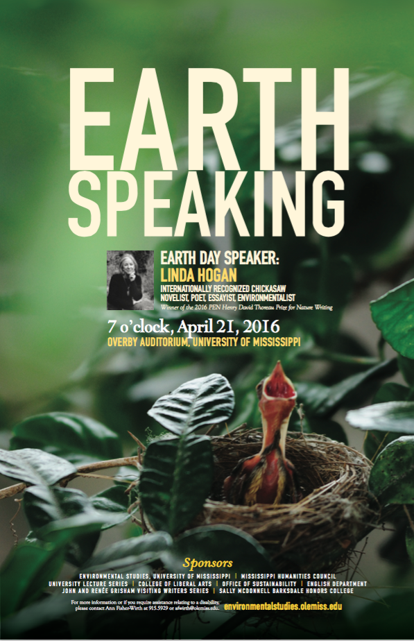 Earth Day lecture poster 2016