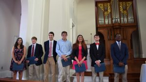 The 2015-2016 ODK Leadership Award winners are Rosa Salas-Gonzalez, Elam Miller, Wister Hitt, Wes Colbert, Brittany Brown, Levi Bevis and Jarvis Benson.