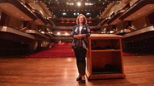 Julia Aubrey is now Director of the Gertrude C. Ford Center for the Performing Arts. Photo by Robert Jordan/UM Communications