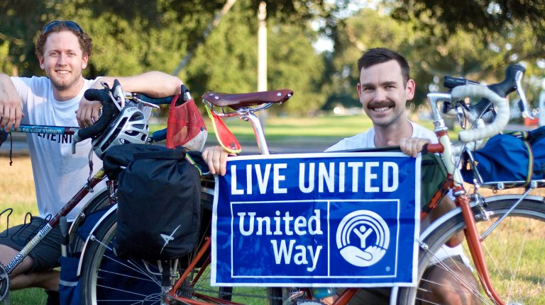 Charlie Wildman (left) and Adam Vinson plan to ride their bikes from Nashville, Tennessee, to Oxford over Thanksgiving week to raise money for United Way. Submitted photo