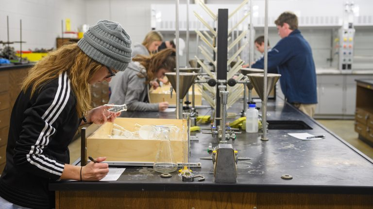 The Department's new Biochemistry emphasis in their American Chemical Society (ACS) certified BS degree has attracted many top female honors students to pursue careers in chemistry. Photo by Robert Jordan/UM Communications