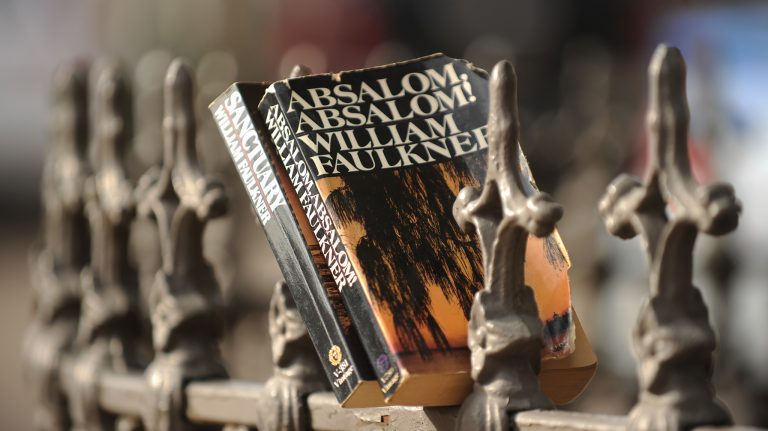 Barry Hudek's dissertation examines the 'solitary furnace experience' undergone by a character in Faulkner's classic 'Absalom, Absalom!' Photo by Nathan Latil/Ole Miss Communications