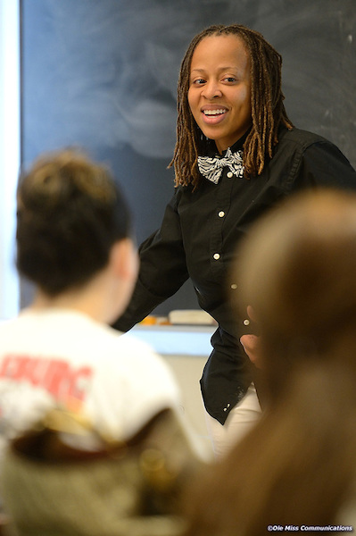 Torina Lewis teaches a class during her time at the University of Mississippi. Photo by Kevin Bain