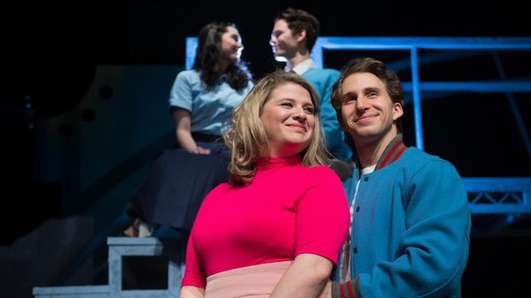 UM students (front, from left) Ginnie Brown and Josh McLemore, and (back, from left) Abby Wilson and Riley McManus rehearse for the Ole Miss Theatre production of 'Zombie Prom,' which opens Friday (Feb. 16) at Meek Hall Auditorium. Photo by Kevin Bain/Ole Miss Communications
