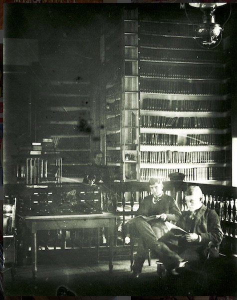 The original University of Mississippi library in Ventress Hall. Photograph from the University of Mississippi Library collection.