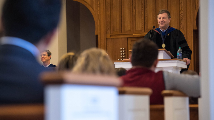 Donald Dyer, associate dean for faculty and academic affairs in the College of Liberal Arts and professor of Russian and linguistics, has been named a Distinguished Professor. Photo by Kevin Bain/