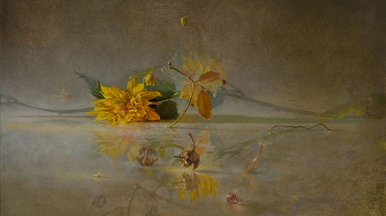 'Transitory Spaces: Flower and Fragments,' by UM professor Philip Jackson, is part of a private collection. The painting is on display at the UM Museum as part of 'The UnstillLife' exhibit. Submitted photo