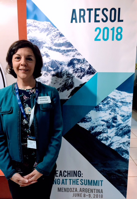 Dinorah Sapp, lecturer and coordinator of professional development for the university's Intensive English Program, visits Argentina to conduct an experiential learning workshop.