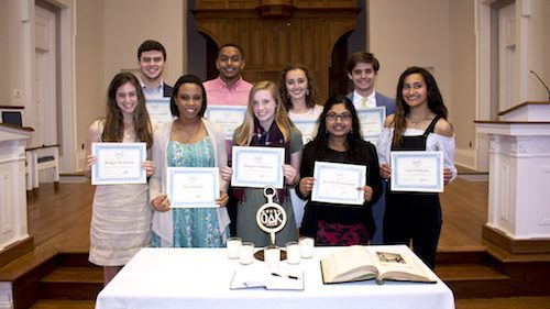 This year's recipients of the Omicron Delta Kappa Freshman Leader Awards are (back row, from left) Kneeland Gammill, of Memphis; Nicholas Crasta, of Vicksburg; Abby Johnston and Harrison McKinnis, both of Madison; (front row, from left) Bridget McMillan, of Long Beach; Asia Harden, of Greenville; Margaret Baldwin, of Birmingham, Alabama; Swetha Manivannan, of Collierville, Tennessee; and Ariel Williams, of Waynesboro. Submitted photoThis year's recipients of the Omicron Delta Kappa Freshman Leader Awards are (back row, from left) Kneeland Gammill, of Memphis; Nicholas Crasta, of Vicksburg; Abby Johnston and Harrison McKinnis, both of Madison; (front row, from left) Bridget McMillan, of Long Beach; Asia Harden, of Greenville; Margaret Baldwin, of Birmingham, Alabama; Swetha Manivannan, of Collierville, Tennessee; and Ariel Williams, of Waynesboro.
