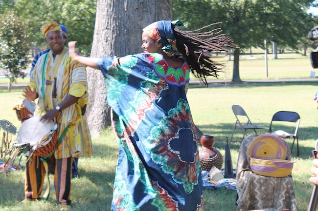 Gracing the Table demonstrates an African libation ceremony at Rust College in Holly Springs, Mississippi. Image courtesy of Dr. Jodi Skipper.
