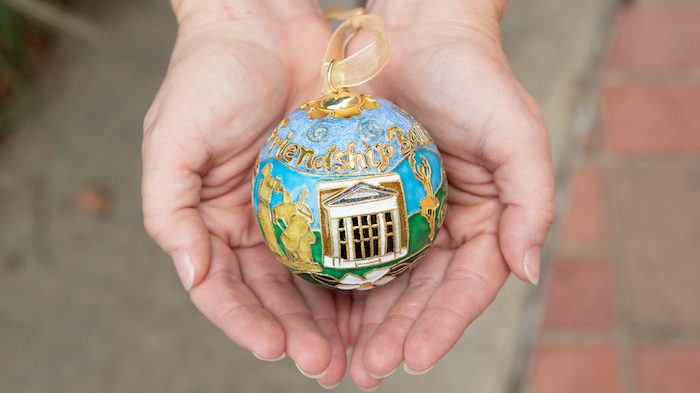 The Ford Center has cloisonne friendship balls for sale as part of the Celebrating the Arts campaign, which runs through May 18.