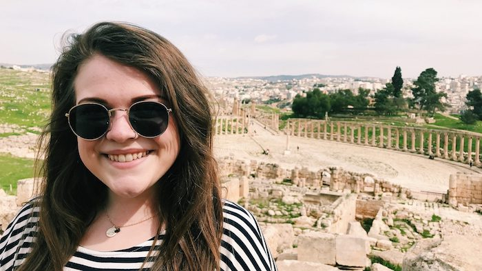 Croft Institute senior Lauren Burns has journeyed to Jordan three times for study abroad. Her trips have allowed her to immerse herself in Jordanian culture, including trips to places such as Jerash.