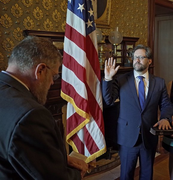 Jon Parrish Peede Sworn In as Chairman of the National Endowment for the Humanities