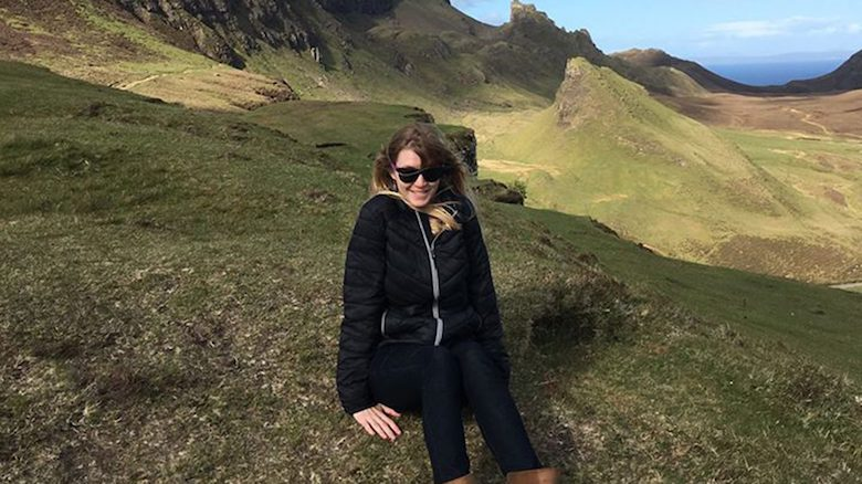 Susie Penman, the university's first graduate of the Master of Fine Arts in Documentary Expression program, visits the Isle of Man in Scotland.