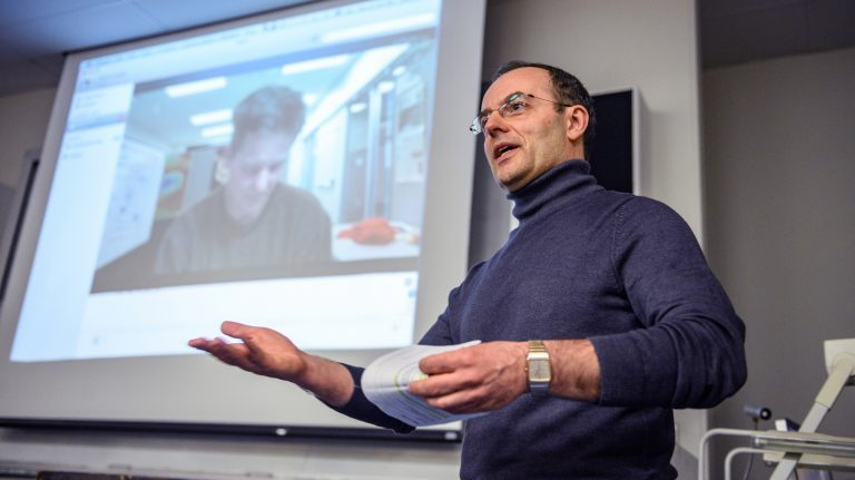 Marco Cavaglia, UM professor of physics and astronomy and an active member of the LIGO Scientific Collaboration, is director of the new Center for Multi-messenger Astrophysics. Photo by Robert Jordan/