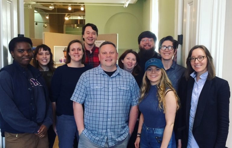 Southern Studies oral history/queer southern history students with IHP co-founder Josh Burford. Photo courtesy of Southern Studies.