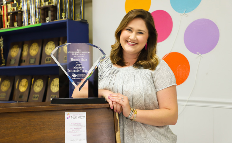 Meet the Mississippi Department of Education's Teacher of the Year: UM alumna Hannah Gadd Ardrey, a teacher at Lafayette Middle School in Oxford.