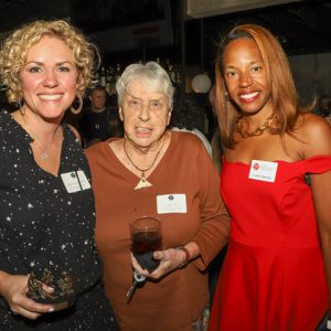 The Ole Miss Women's Council for Philanthropy has named Dr. Jane-Claire Williams (far left) as the 2019 Emerging Young Philanthropist. On hand to congratulate her were Judy Trott (center), former dean of students at the University of Mississippi, and Candie Simmons, an OMWC member.
