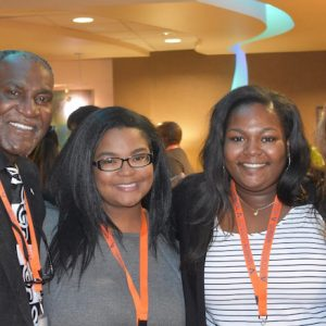 Donald Cole (left), former UM mathematics professor and special assistant to the chancellor, attends a research conference with UM McNair Scholars Latriece Johnson and Skylyn Irby, and Sandra Spiroff, an associate professor of mathematics at Ole Miss.