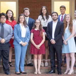 Ten University of Mississippi students have been awarded scholarships through the Croft Institute for International Studies. The students are (front, from left) Reo Weaver, Alyssa Langlois, Edith-Marie Green, Israel Paredes and Brooke Williams, and (back) Samantha Rice, Caleb Colley, Amanda Pagoaga, Brandon Kriplean and Gillian Littleton.