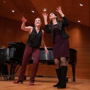Acclaimed mezzo-soprano Sandra Piques Eddy (right) conducts a master class as part of the UM Living Music Resource's Living Music Institute in 2019. This year's Living Music Institute includes an aria competition that is open to the public at 10 a.m. Sunday (Jan. 19) in Nutt Auditorium Photo by Kevin Bain/Ole Miss