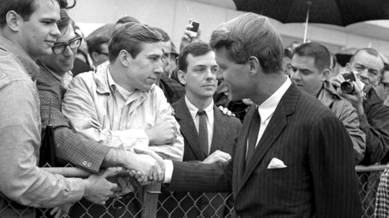 """Mary Blessey's film """"You Asked for the Facts"""" focuses on Ole Miss student activists who brought Robert F. Kennedy to campus in the 1960s. The film is the subject of an April 7 SouthTalk."""