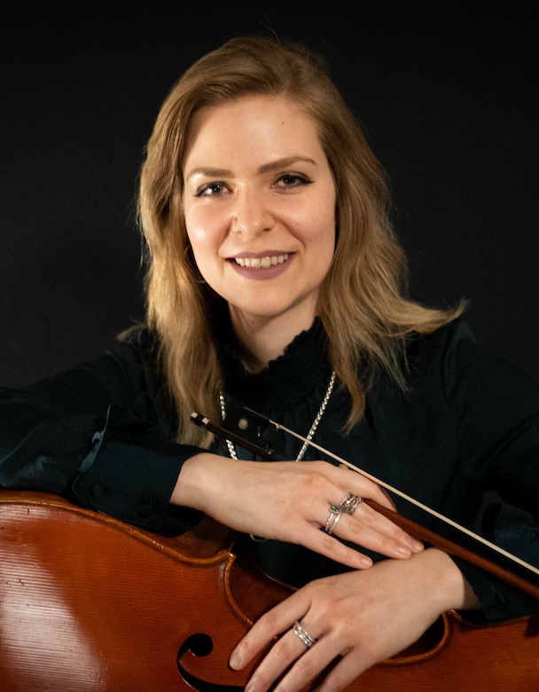 Christine Kralik will perform on cello at 12:15 p.m. Tuesday (Feb. 4) in Bryant Hall.