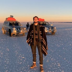 UM student Jess Cooley visits the Salar de Uyuni, the world's largest salt flat, in 2019 while studying at the Bolivia Field School. Winner of the 2020 Barksdale Award, Cooley plans to return to South America this summer to study and document damage from 2019 forest fires in the Chiquitanía.