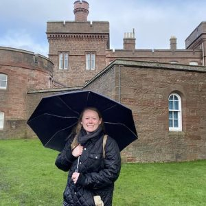 University of Mississippi student Kennedy Frain visits Inverness Castle in Scotland, where the senior is studying this spring as a Benjamin A. Gilman International Scholar.