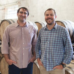 Cathead Distillery founders Austin Evans (left) and Richard Patrick have made a donation to the UM Southern Foodways Alliance to fund a series of essays exploring the contemporary South and its future. Photo courtesy Cathead Distillery