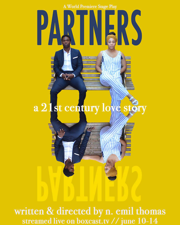 UM alumni Kaleb and Tina Sade Mitchell star in 'Partners,' a new play by N. Emil Thomas that premieres online this week as a new production by Marietta's New Theatre in the Square.