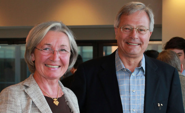 Traute and James Langmesser of Alexandria, Virginia, have committed an unrestricted $1 million gift to the UM College of Liberal Arts, strengthening such areas as graduate student support, faculty support and facility modernization. James Langmesser, a native of Chicago, Illinois, studied university catalogs to choose his college home, and his younger brother also graduated from UM.