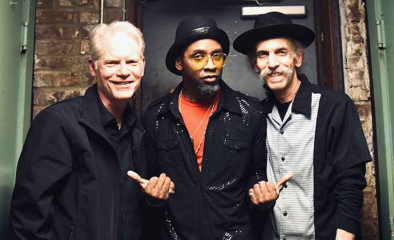 UM professors Adam Gussow (left) and Alan Gross (right), with bandmate Rod Patterson, have a new song out called 'Come Together,' aimed at inspiring unity during troubled times. Submitted photo
