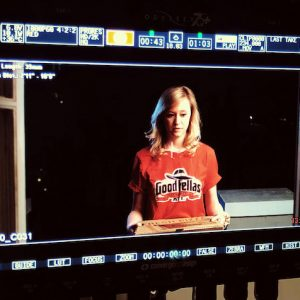 UM alumnus Shelby Grady performs on the set of 'Slice of Life,' a short horror film written and directed by Gavin Fields and produced by Deer Run Media, a video agency founded by Fields and several fellow UM alumni. Submitted photo